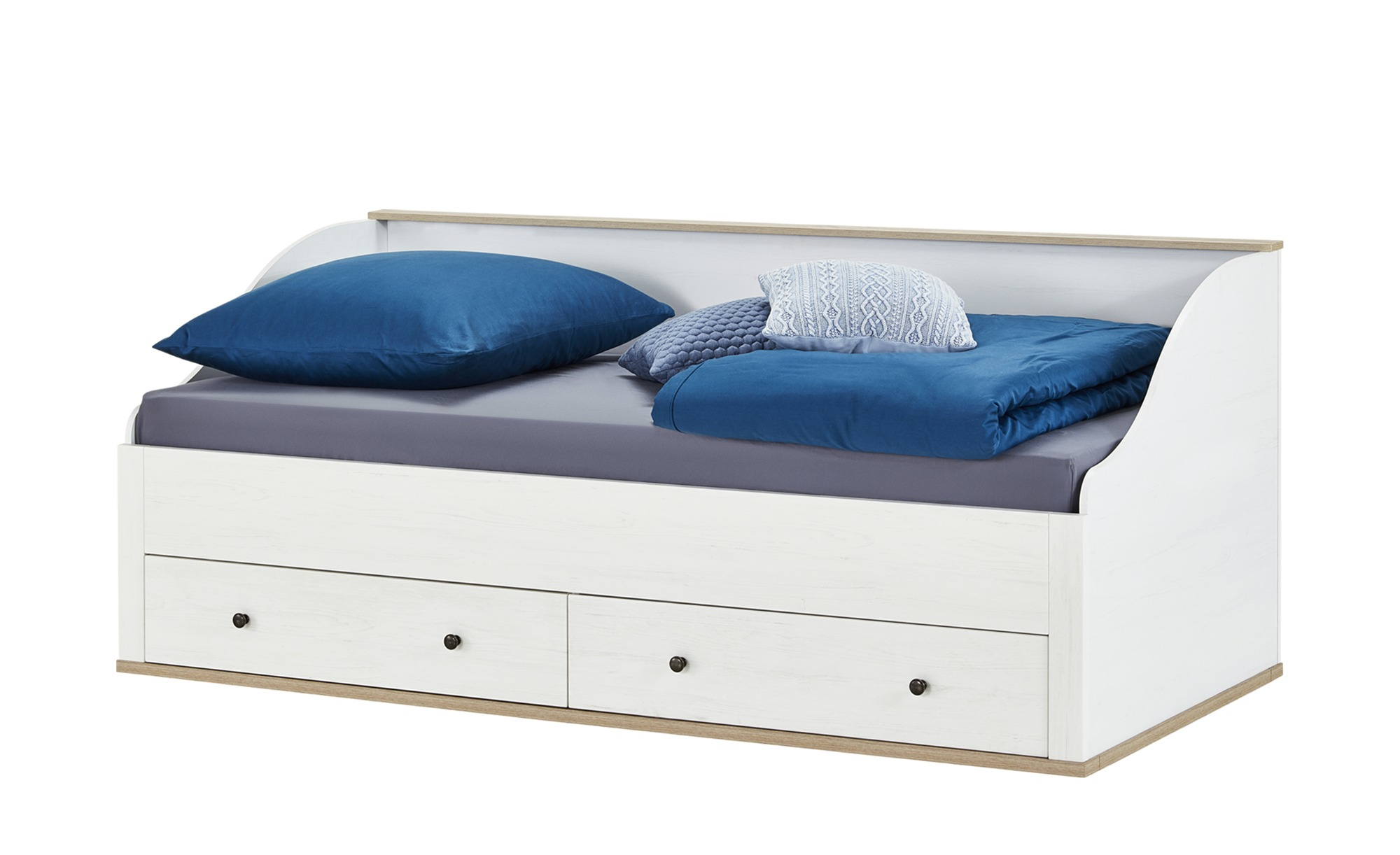 Full Size of Bett Mit 2 Schubksten 90x200 Wei Lrche Optik Carmen Luxus Betten 100x200 Günstig Kaufen Weiß 2x2m 140x200 Aus Holz 140x220 Nussbaum 180x200 Schubladen Bett Bett 90x200 Weiß