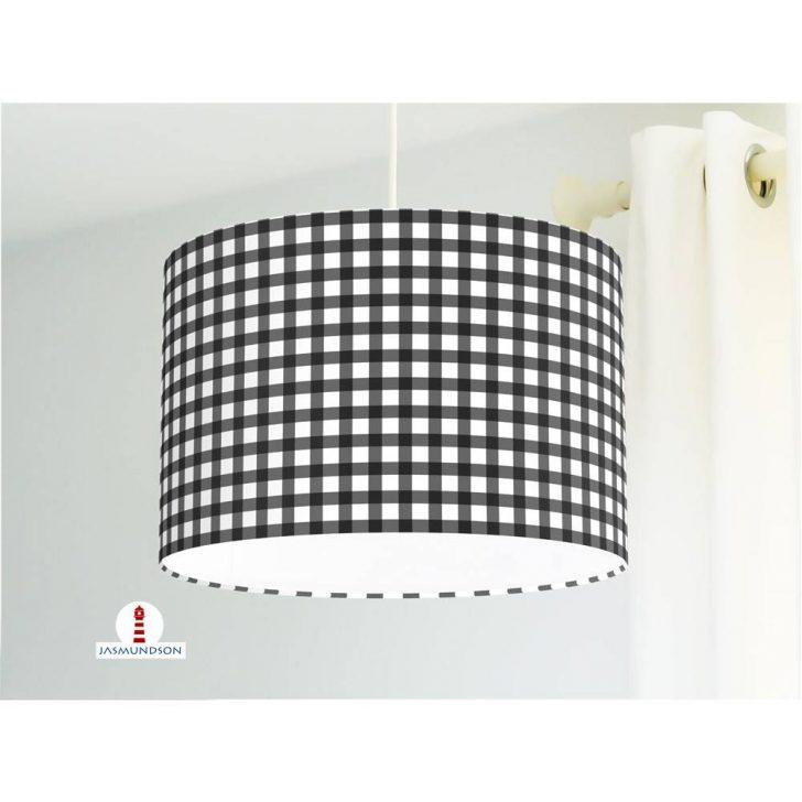 Medium Size of Lampe Schlafzimmer Kariert In Schwarz Wei Aus Baumwollstoff Tischlampe Wohnzimmer Massivholz Betten Komplett Günstig Stehlampen Designer Lampen Esstisch Schlafzimmer Lampe Schlafzimmer