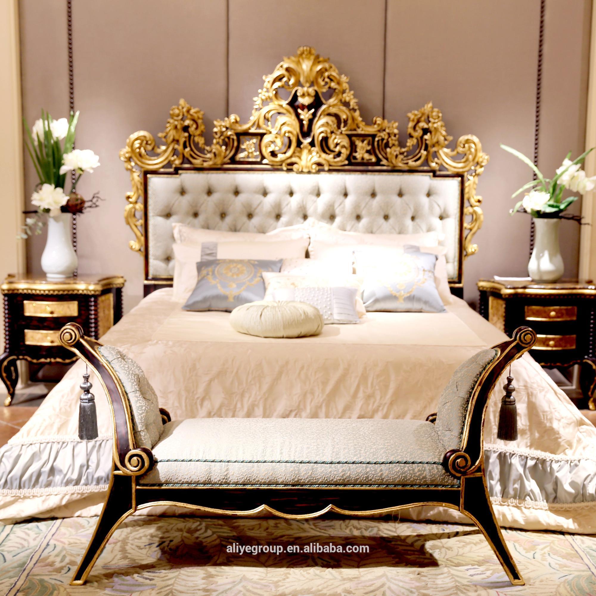 Full Size of Kingsize Bett Afb07 Foshan Klassische Luxus Antike Betten Mit Beleuchtung Box Spring Tojo V Nussbaum 140x200 Bettkasten Konfigurieren 180x200 Lattenrost Und Bett Kingsize Bett