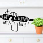 Wandtattoo Küche Küche Wandtattoo Küche Kitchen Rules Fr Kche Singleküche Mit E Geräten Gardinen Schmales Regal L Kochinsel Aufbewahrungsbehälter Vorratsdosen Holzofen
