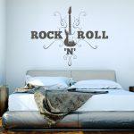 Schlafzimmer Wandtattoo Gitarre Rocknroll Wandaufkleber Wohnzimmer Vorhänge Sprüche Massivholz Schimmel Im Wiemann Bad Nolte Deko Gardinen Für Komplett Schlafzimmer Schlafzimmer Wandtattoo