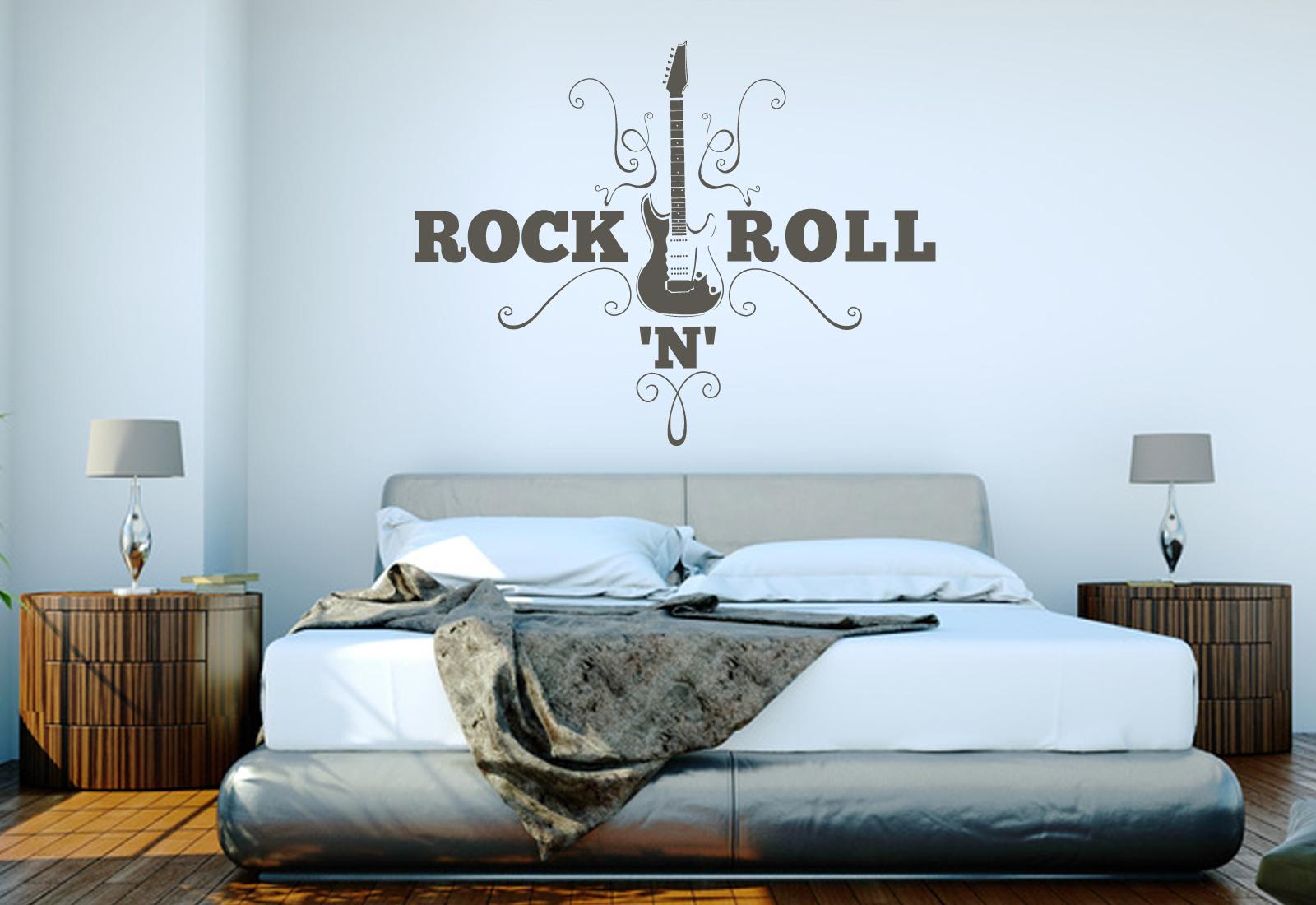 Full Size of Schlafzimmer Wandtattoo Gitarre Rocknroll Wandaufkleber Wohnzimmer Vorhänge Sprüche Massivholz Schimmel Im Wiemann Bad Nolte Deko Gardinen Für Komplett Schlafzimmer Schlafzimmer Wandtattoo