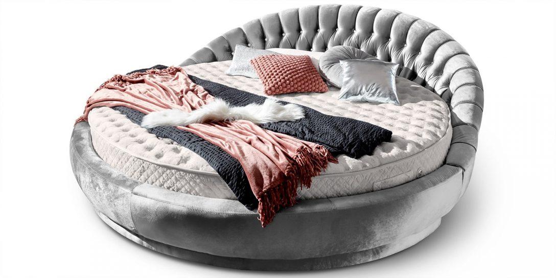 Large Size of Rundes Bett Italienisches Rundbett In Samt 220x220 Cm Rundmatratze Amerikanisches Selber Bauen 180x200 Betten Weiß 1 40x2 00 Massiv Mit Unterbett Topper Bett Rundes Bett