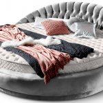 Rundes Bett Bett Rundes Bett Italienisches Rundbett In Samt 220x220 Cm Rundmatratze Amerikanisches Selber Bauen 180x200 Betten Weiß 1 40x2 00 Massiv Mit Unterbett Topper