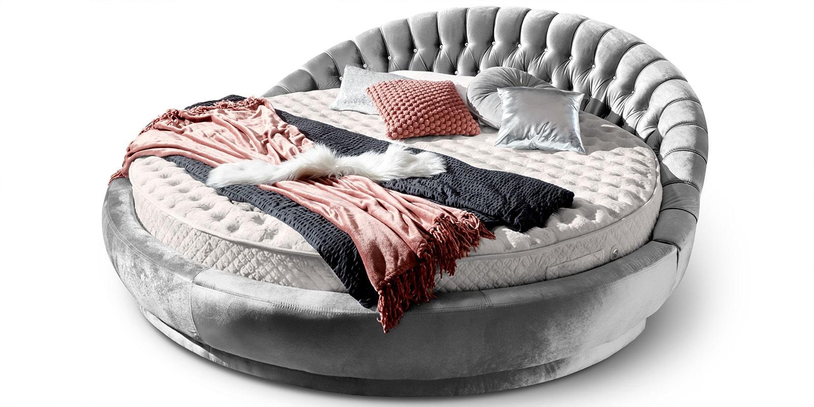 Full Size of Rundes Bett Italienisches Rundbett In Samt 220x220 Cm Rundmatratze Amerikanisches Selber Bauen 180x200 Betten Weiß 1 40x2 00 Massiv Mit Unterbett Topper Bett Rundes Bett