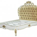 Barock Bett Venice Superior Wei Gold Samtstoff 180 200 Cm Aus Weiß 100x200 Weißes 140x200 Poco Hunde 180x220 Hasena Betten Amazon Hoch Lattenrost Bett Barock Bett