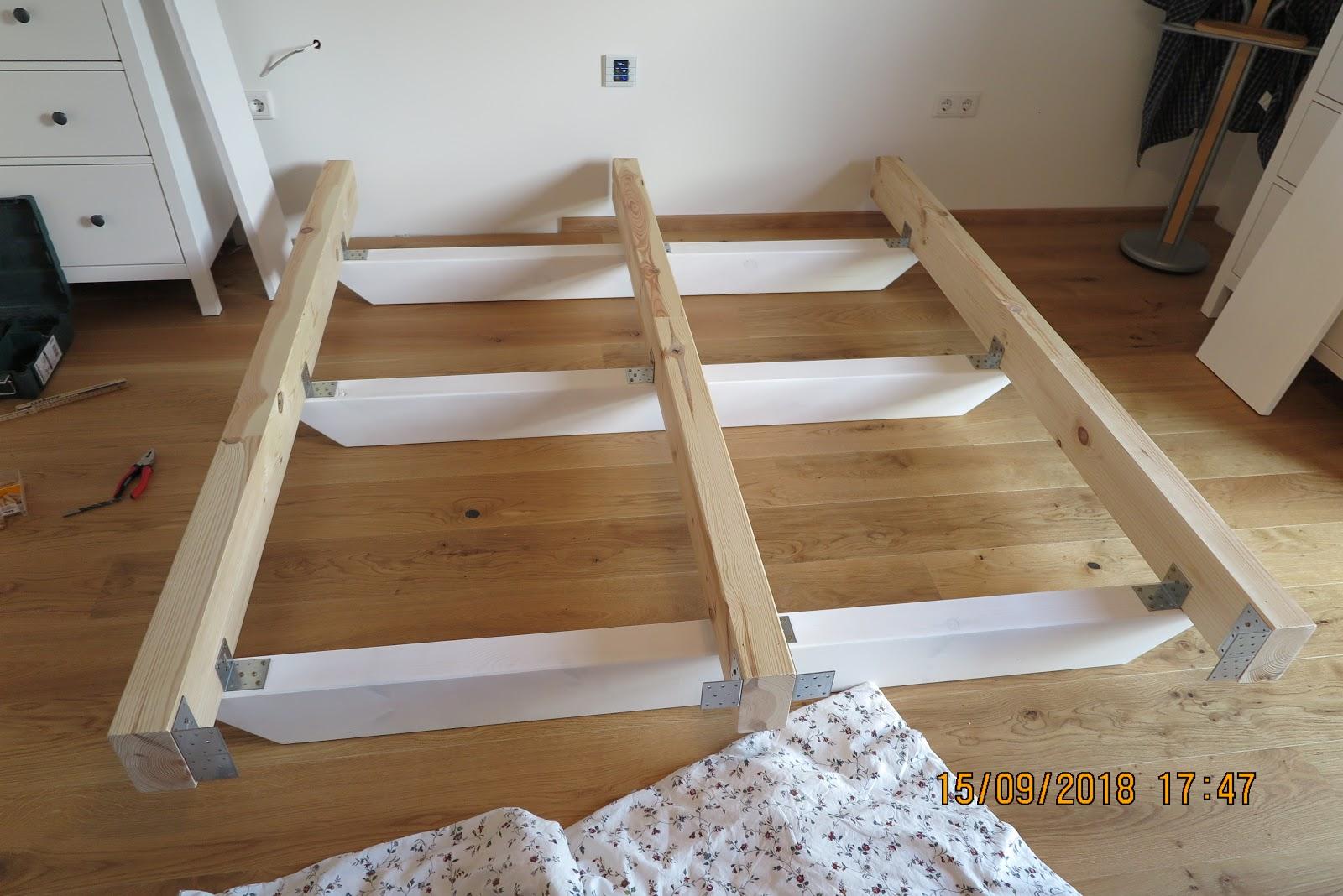 Full Size of Bett Balken Wir Bauen Ein Holzhaus Diy Kinder Betten 160x200 Bambus 140x200 Ohne Kopfteil Kleinkind Mit Bettkasten Rückenlehne Wohnwert Günstig Kaufen Bett Bett Balken