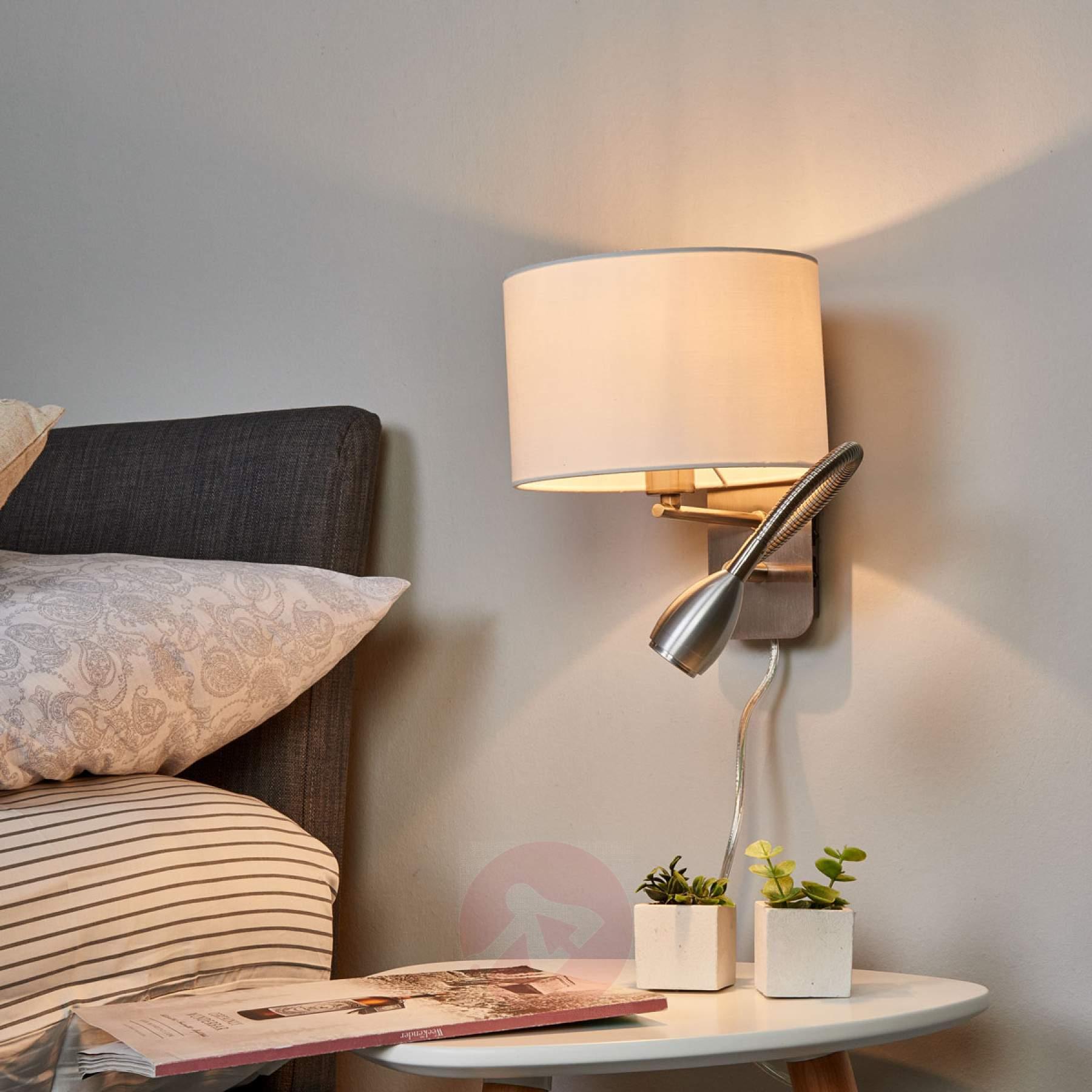 Full Size of Schlafzimmer Wandlampen Led Wandlampe Mit Leselampe Design Ikea Schalter Schwenkbar Wandleuchte Dimmbar Modern Holz Risa Kombinierte Kaufen Lampenweltde Schlafzimmer Schlafzimmer Wandlampe