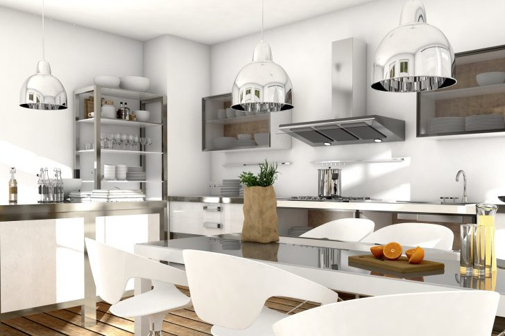 Medium Size of Küche Mit Edelstahl Und Glaselementen Küche Edelstahlküche