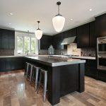 Kitchen With Dark Wood Cabinetry Küche Edelstahlküche