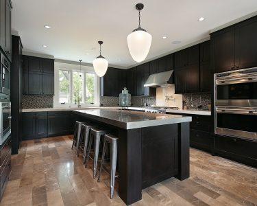 Edelstahlküche Küche Kitchen With Dark Wood Cabinetry