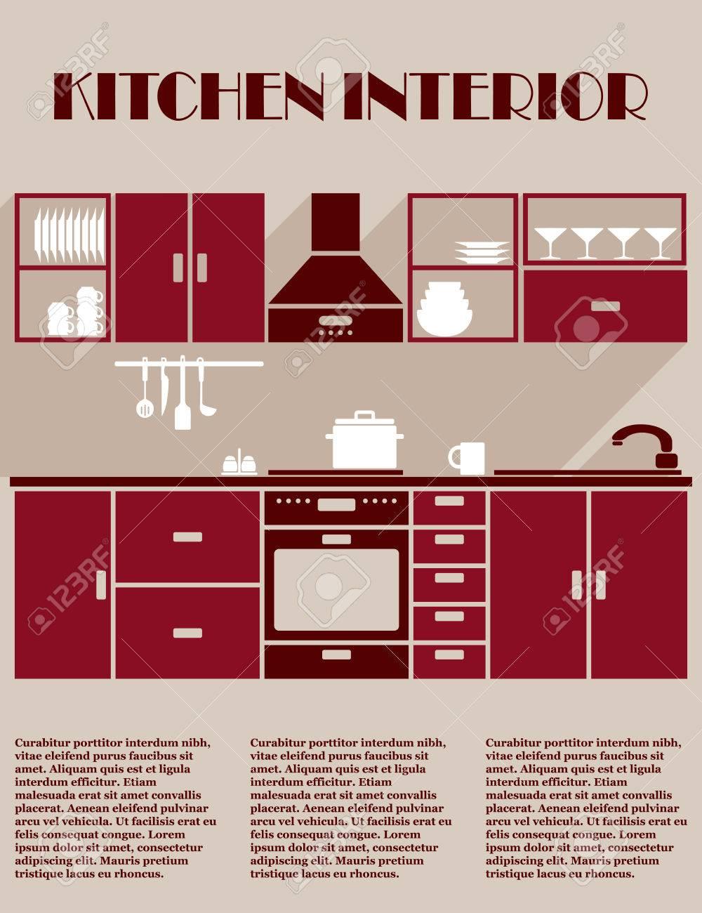 Full Size of Kitchen Interior Infographic Template Küche Einbauküche Mit Elektrogeräten