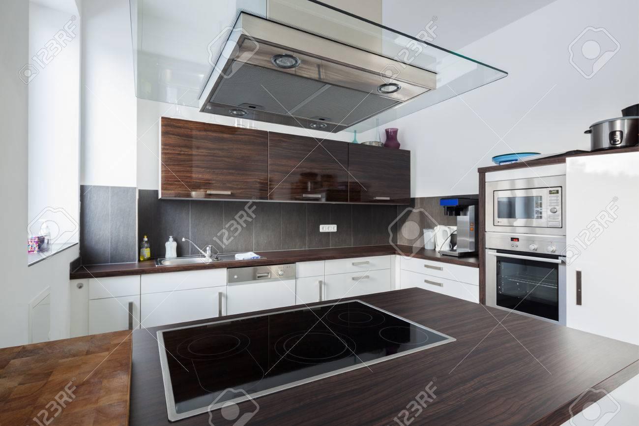 Full Size of Interior Of A Modern Fitted Kitchen Küche Einbauküche Mit Elektrogeräten