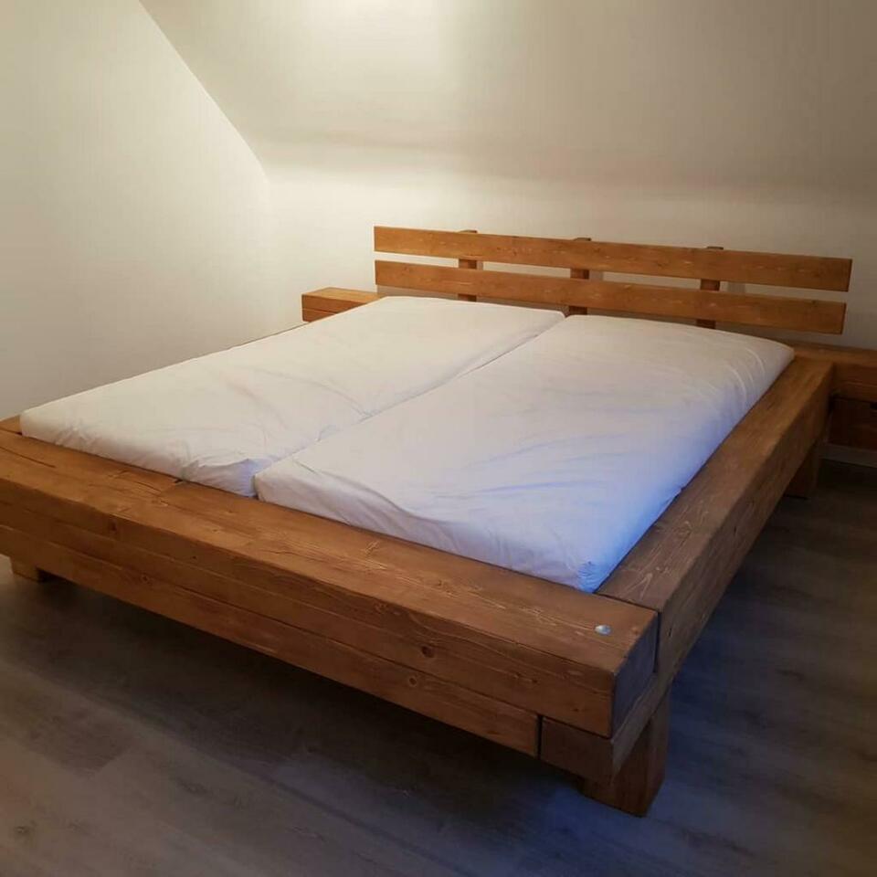 Balkenbett Yoyo Bett 140 200 100 Handarbeit In Einzelbett Betten