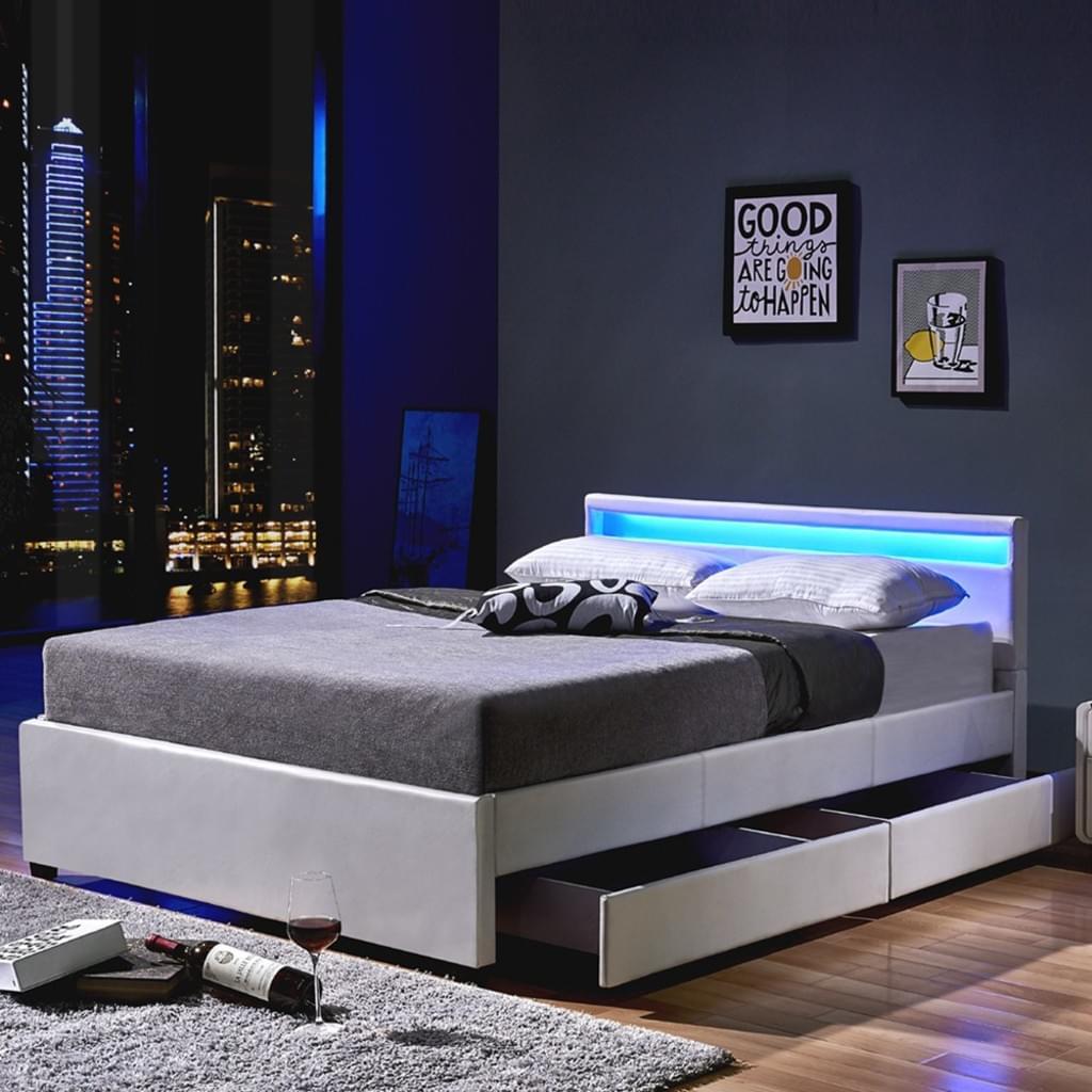 Full Size of Bett 140 Led Nube Mit Schubladen 200 Wei Real Außergewöhnliche Betten Sitzbank Oschmann Tatami 200x200 Stauraum 160x200 Schlafzimmer Home Affaire Bett Bett 140