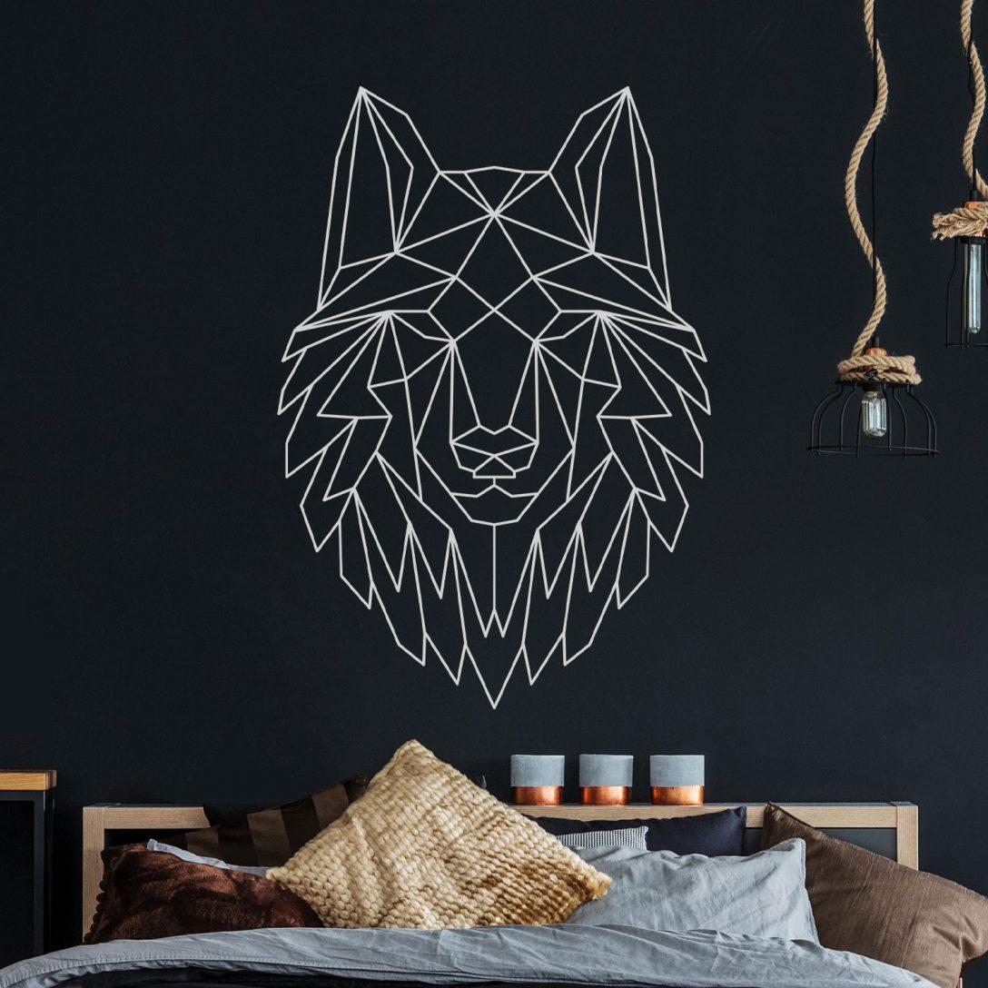 Large Size of Wandtattoo Geometrischer Wolf Polygonaler Stil Wanddeko Fr Flur Nolte Schlafzimmer Schimmel Im Wandleuchte Wandtattoos Küche Regal Eckschrank Deckenleuchte Schlafzimmer Wandtattoos Schlafzimmer