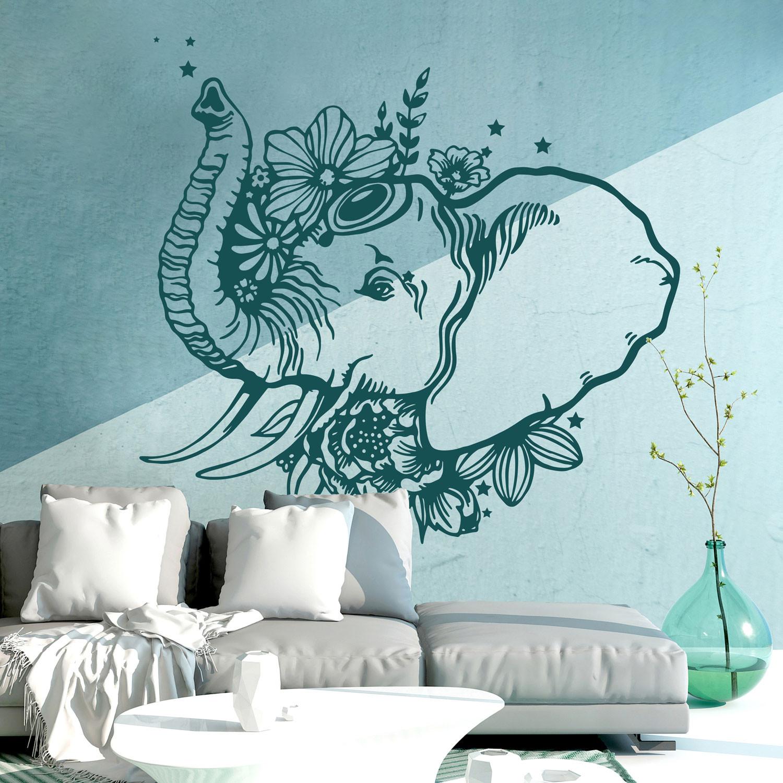 Full Size of Wandtattoos Schlafzimmer Wandtattoo Indischer Elefant Wanddeko Indien Orientalisch Regal Günstige Komplett Landhausstil Weiß Kommode Komplettangebote Schlafzimmer Wandtattoos Schlafzimmer