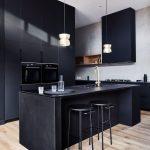 Fliesen Für Schwarze Küche Schwarze Küche Mit Holz Schwarze Küche Mit Schwarzer Arbeitsplatte Schwarze Küche Matt Ikea Küche Schwarze Küche