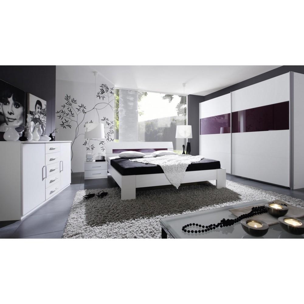 Schlafzimmer Komplett Wei Lila 12 Mit überbau Rauch ...