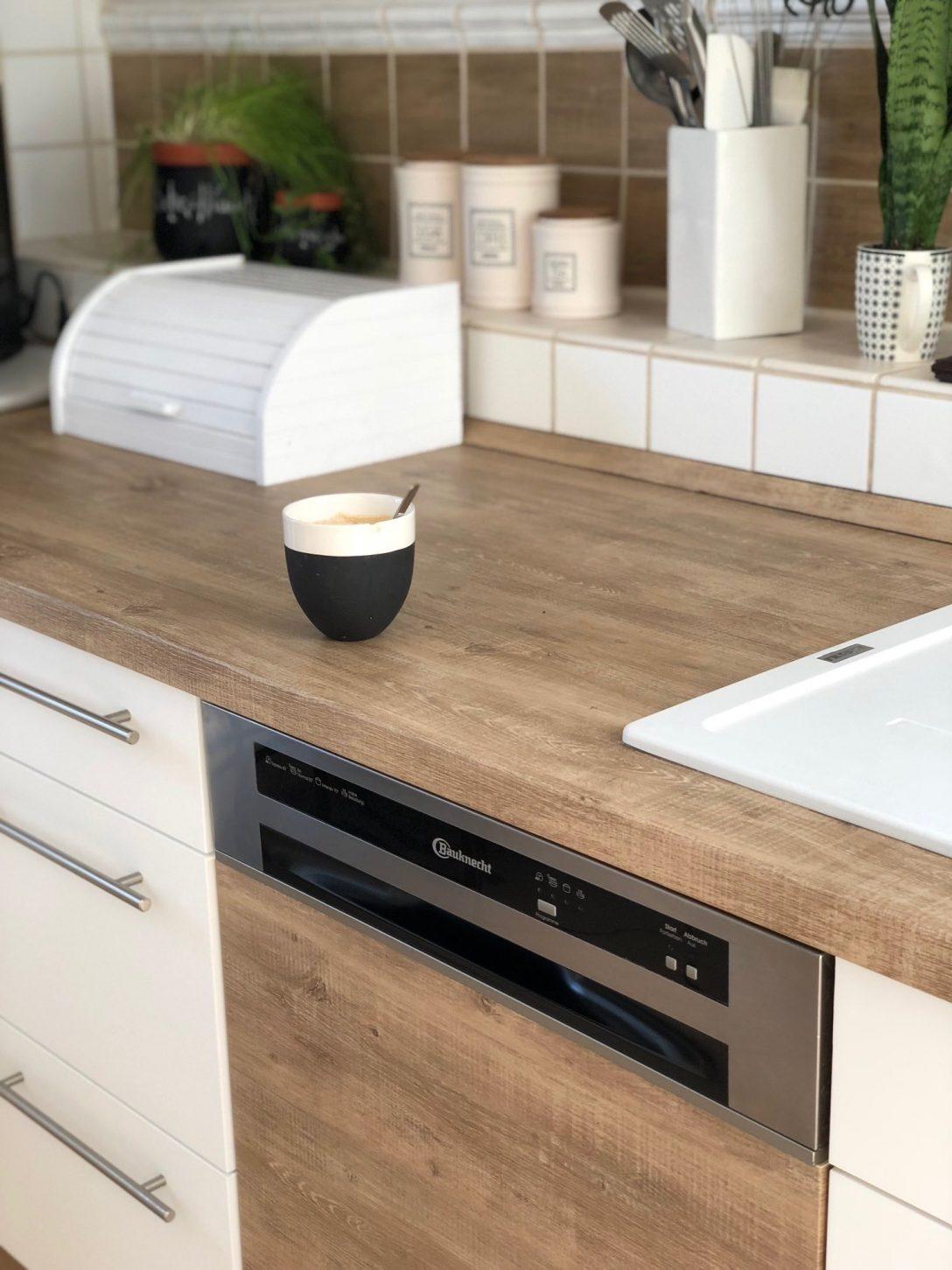 Large Size of Unschlagbares Kchen Make Over Mit Klebefolien Von Resimdo Industrie Küche Miniküche Kühlschrank Bodenbeläge Hängeschrank Glastüren Theke Aufbewahrung Küche Küche Erweitern