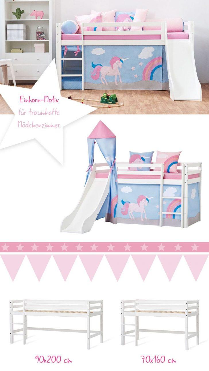 Medium Size of Halbhohes Bett Einhorn Kinderbett Massivholz Selber Bauen 180x200 Schlafzimmer Set Mit Matratze Und Lattenrost Schrank Esstisch 4 Stühlen Günstig Treca Bett Bett Mit Rutsche