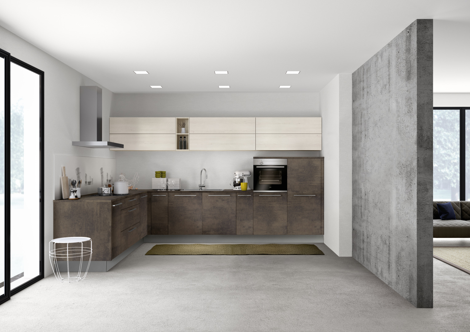 Full Size of Stone 265   Kupfer Oxid / Manhattan 49b   Kiruna Birke Küche Günstige Küche Mit E Geräten