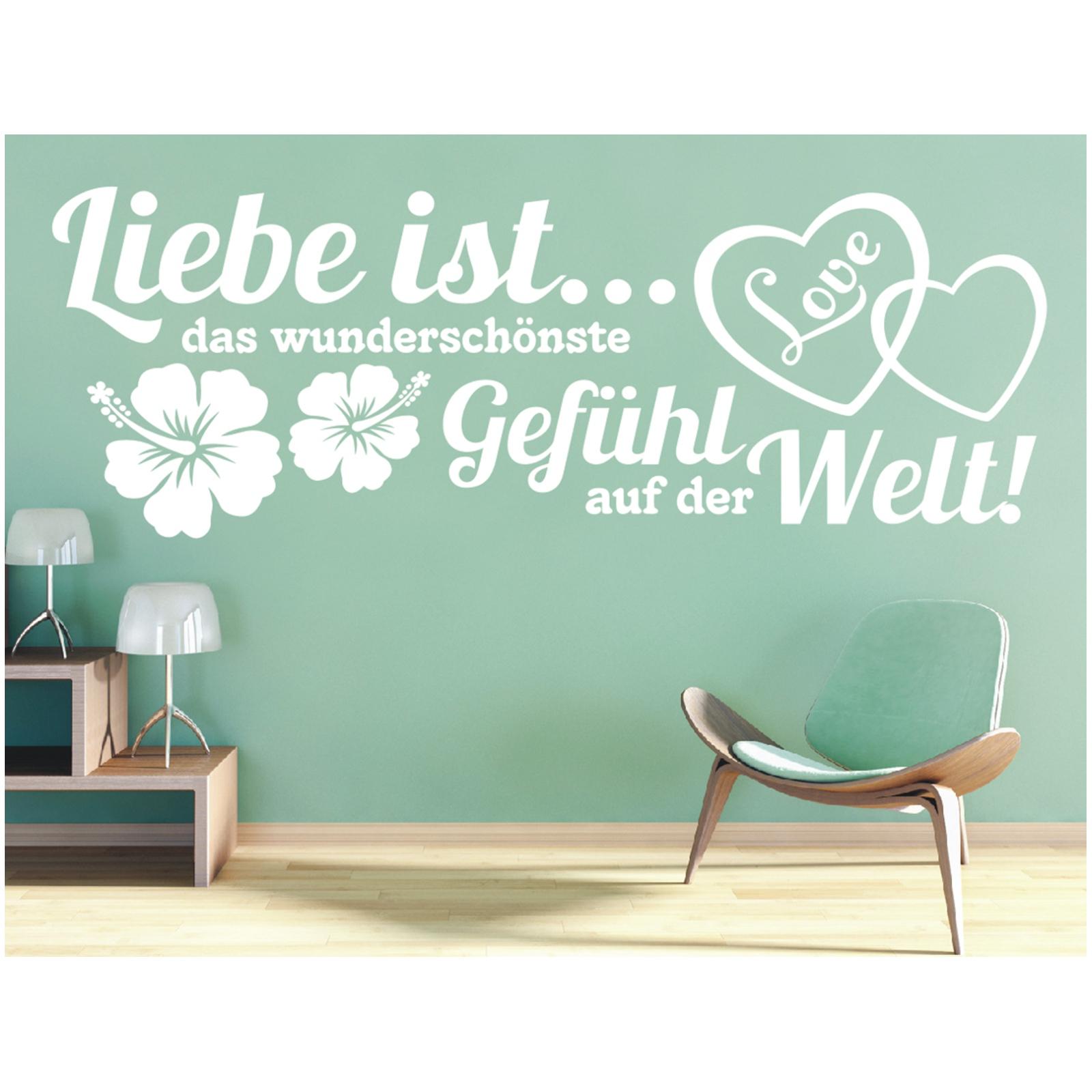 Full Size of Wandtattoo Spruch Liebe Ist Gefhl Welt Wandsticker Wandaufkleber Im Ganzen Wc Sprüche 1 Küche Wandtattoos Sprüche