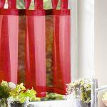 Scheibengardine Einfarbig Rot Blickfang In Der Kche Hängeschrank Küche Höhe Modern Weiss Gebrauchte Einbauküche Abluftventilator Apothekerschrank Küche Vorhang Küche