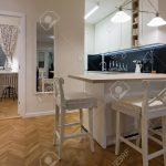 Glaswand Küche Küche Modern Kitchen Interior With Chalkboard Wall