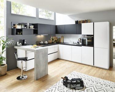 Grifflose Küche Küche Feel   Arcticweiss / Schwarz
