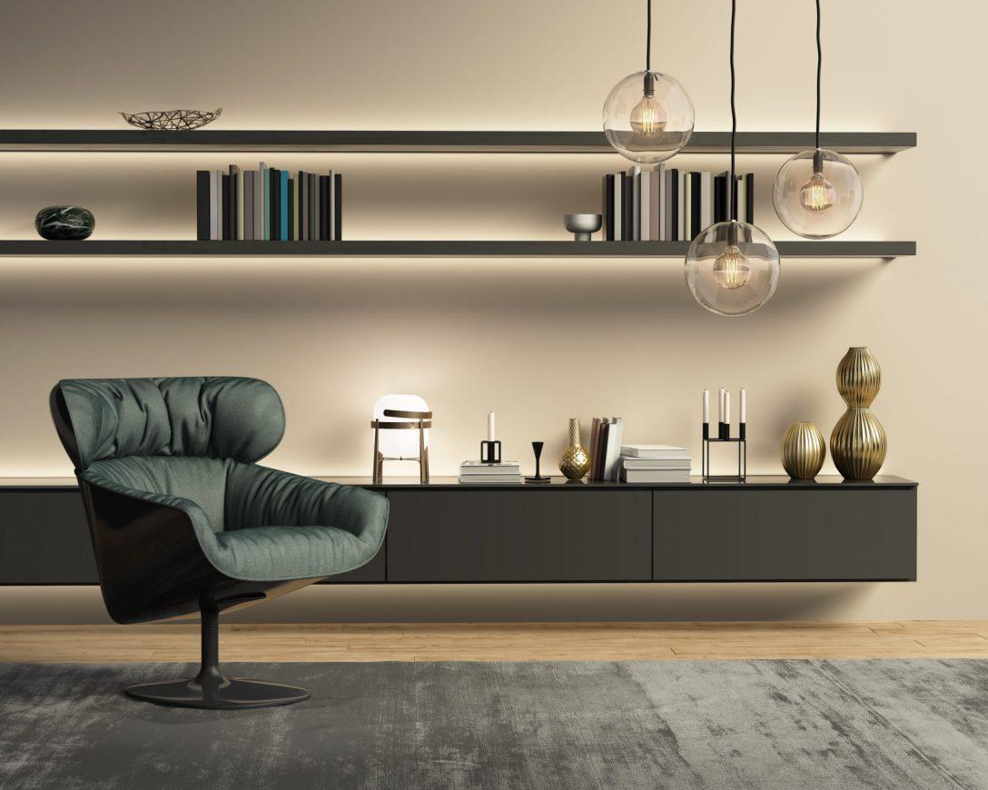Large Size of Contemporary Modern Beige Wall System Living Room Wohnzimmer Hängelampe Wohnzimmer