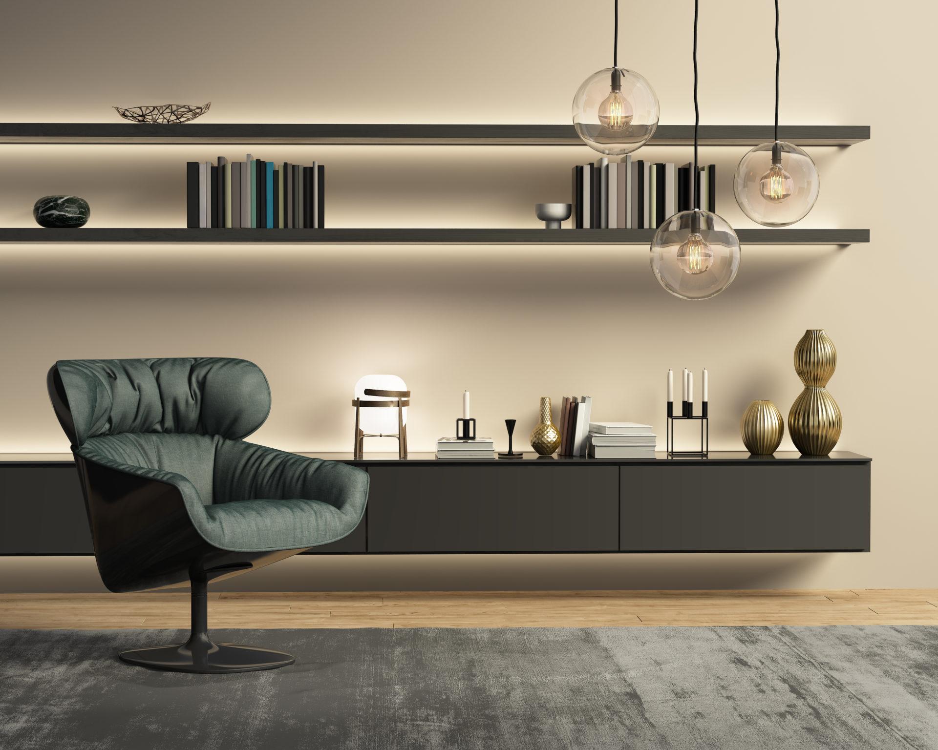 Full Size of Contemporary Modern Beige Wall System Living Room Wohnzimmer Hängelampe Wohnzimmer