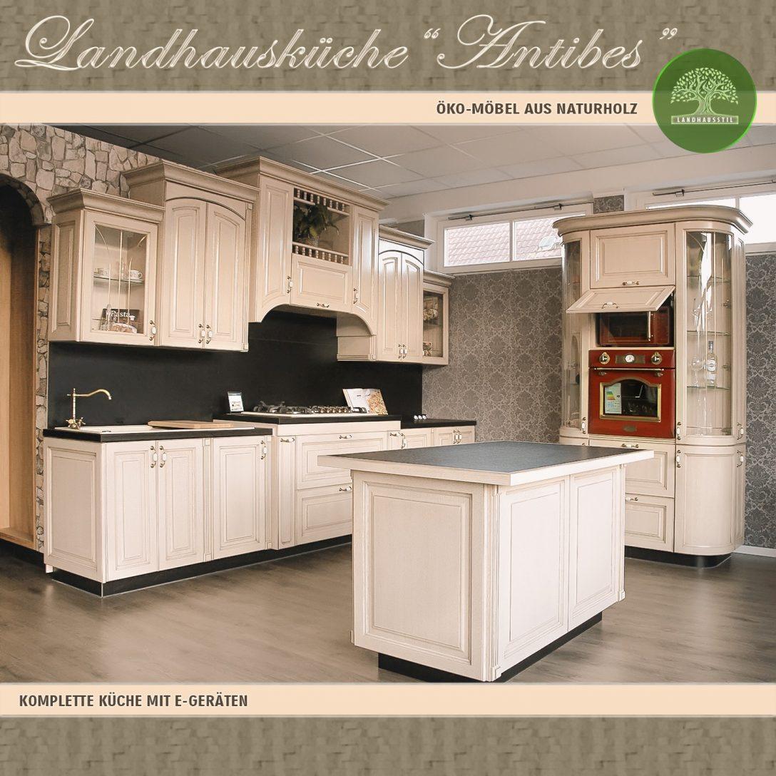 Large Size of Antibes Einbaukche Komplett Kchenblock 5 Landhausküche Weisse Weiß Moderne Gebraucht Grau Küche Landhausküche
