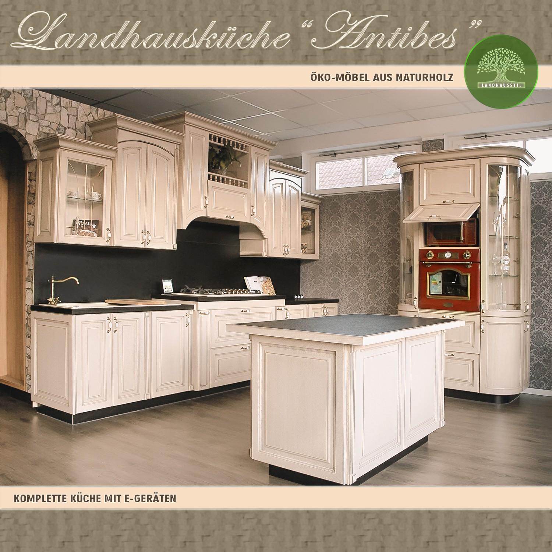 Full Size of Antibes Einbaukche Komplett Kchenblock 5 Landhausküche Weisse Weiß Moderne Gebraucht Grau Küche Landhausküche