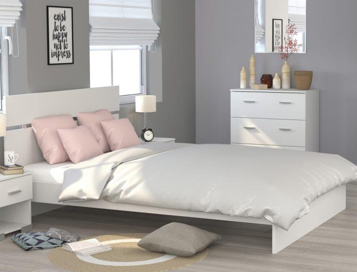Weißes Schlafzimmer Doppelbett Galeno Wei 160x200 Ehebett Bettgestell Bett Komplett Günstig Mit überbau Klimagerät Für Deckenleuchte Lampe Schränke Schlafzimmer Weißes Schlafzimmer