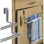 Edelstahl Schrank Küche Handtuchhalter Küche 40cm Edelstahl 2Stangen Schrank Tür Schön Küche Handtuchhalter Küche