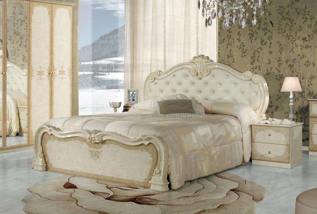 Large Size of Moebel De Betten Bett Tolouse 160x200cm In Beige Gold Barock Ohne Lattenrost Tou Runde Fenster Regal Glasböden Deckenstrahler Wohnzimmer Deckenleuchte Bett Www Moebel De Betten