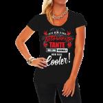 Frauen T Shirt Ttowierte Coole Tante Tattoos Inked Geschenk Lustige T Shirt Sprüche Männer Bettwäsche Junggesellinnenabschied Betten Junggesellenabschied Küche Coole T Shirt Sprüche