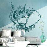 Wandtattoo Schlafzimmer Schlafzimmer Wandtattoo Indischer Elefant Wanddeko Indien Orientalisch Schlafzimmer Deckenlampe Betten Weißes Komplett Günstig Set Landhausstil Weiß Günstige Teppich