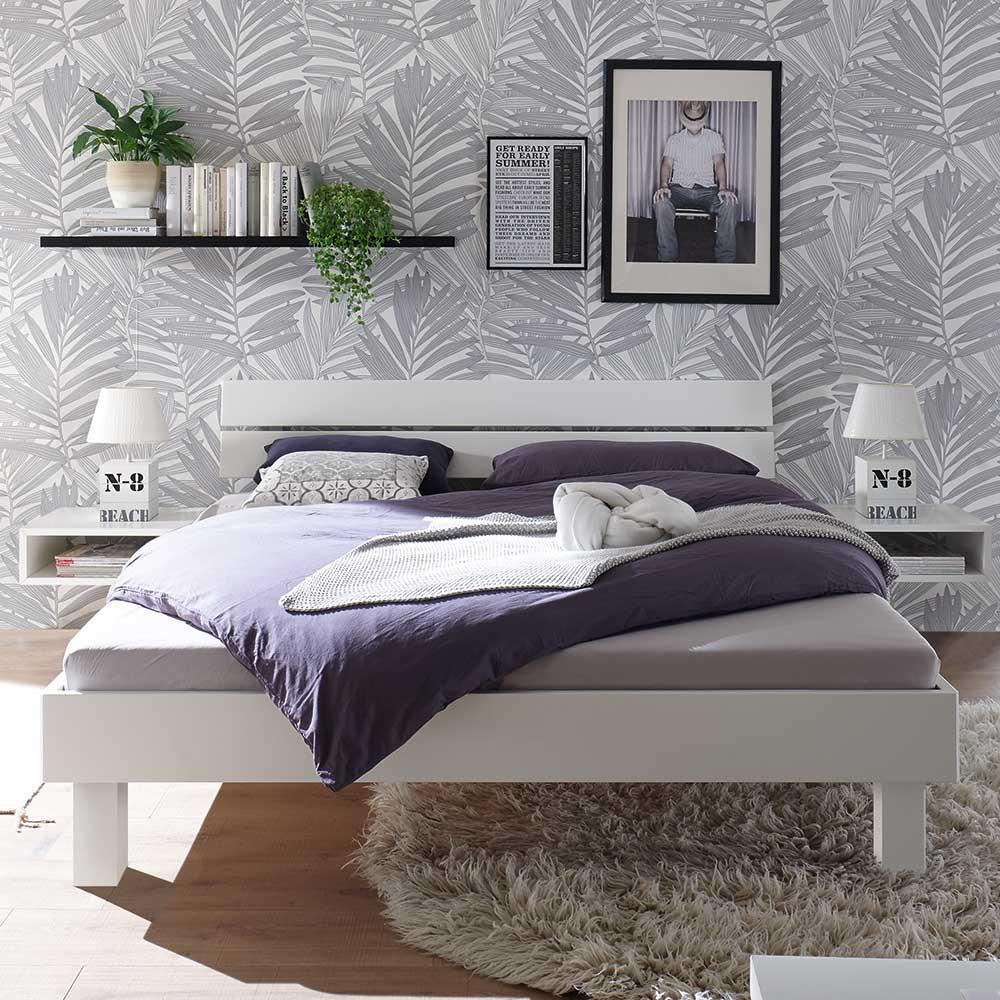Full Size of Weißes Bett Weies Holzbett Jasha Aus Buche Massivholz Mit 25 Cm Bodenfreiheit Paletten 140x200 Günstige Betten Mädchen Wohnwert 90x200 De Komplett Paradies Bett Weißes Bett