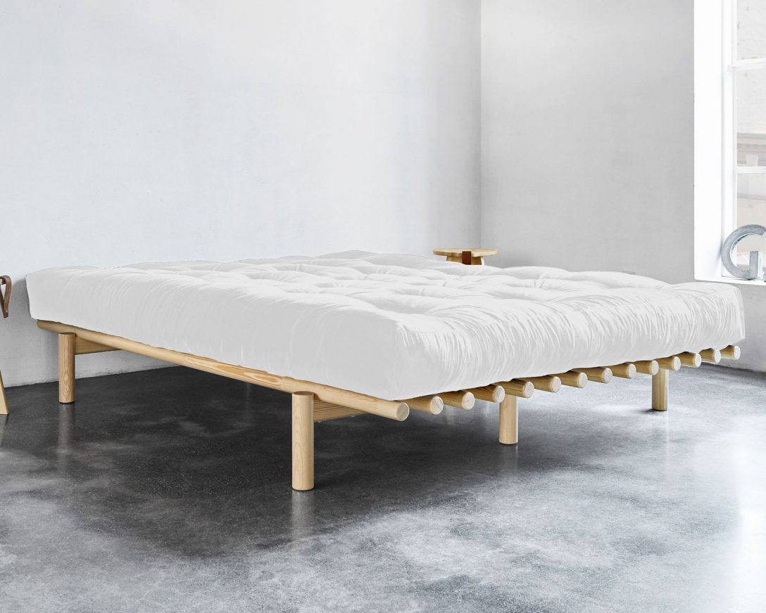 Large Size of Japanisches Bett Futonbett Puristisch Mit Rundhlzern Aus Massiver Kiefer Liri Moebel De Betten Kaufen 140x200 Weiß 90x200 Lattenrost 140 Ebay 180x200 Podest Bett Japanisches Bett