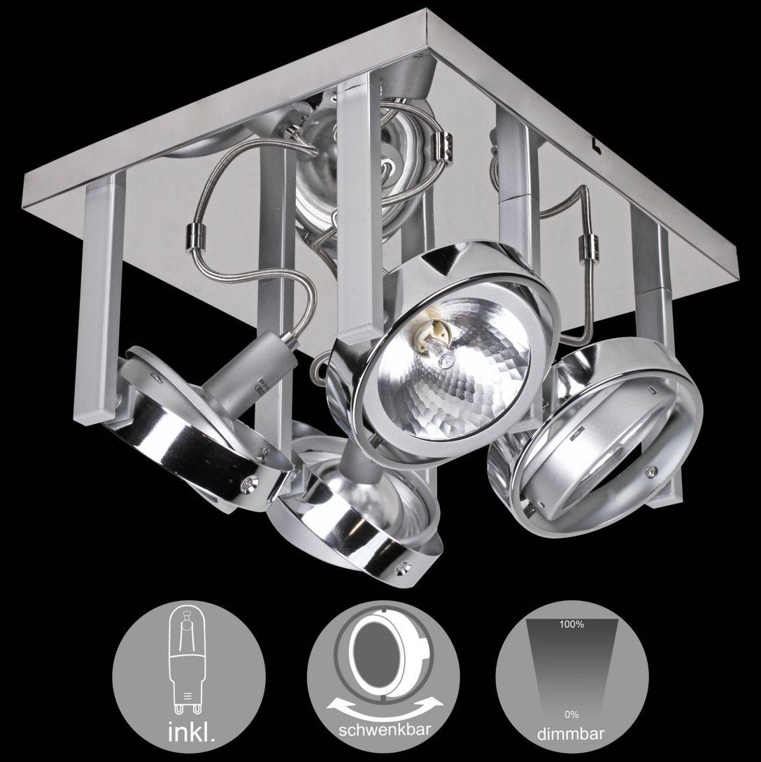 Large Size of Schlafzimmer Deckenlampe Wohnling 4 Flammige Design Deckenleuchte Aus Chrom Inkl Halogen Klimagerät Für Komplett Poco Schrank Teppich Lampe Led Deckenlampen Schlafzimmer Schlafzimmer Deckenlampe