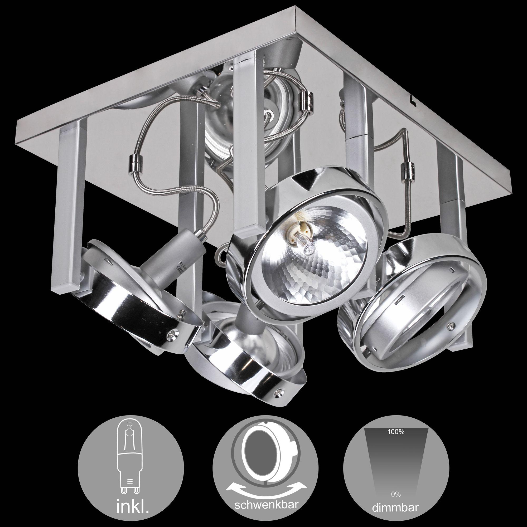 Full Size of Schlafzimmer Deckenlampe Wohnling 4 Flammige Design Deckenleuchte Aus Chrom Inkl Halogen Klimagerät Für Komplett Poco Schrank Teppich Lampe Led Deckenlampen Schlafzimmer Schlafzimmer Deckenlampe