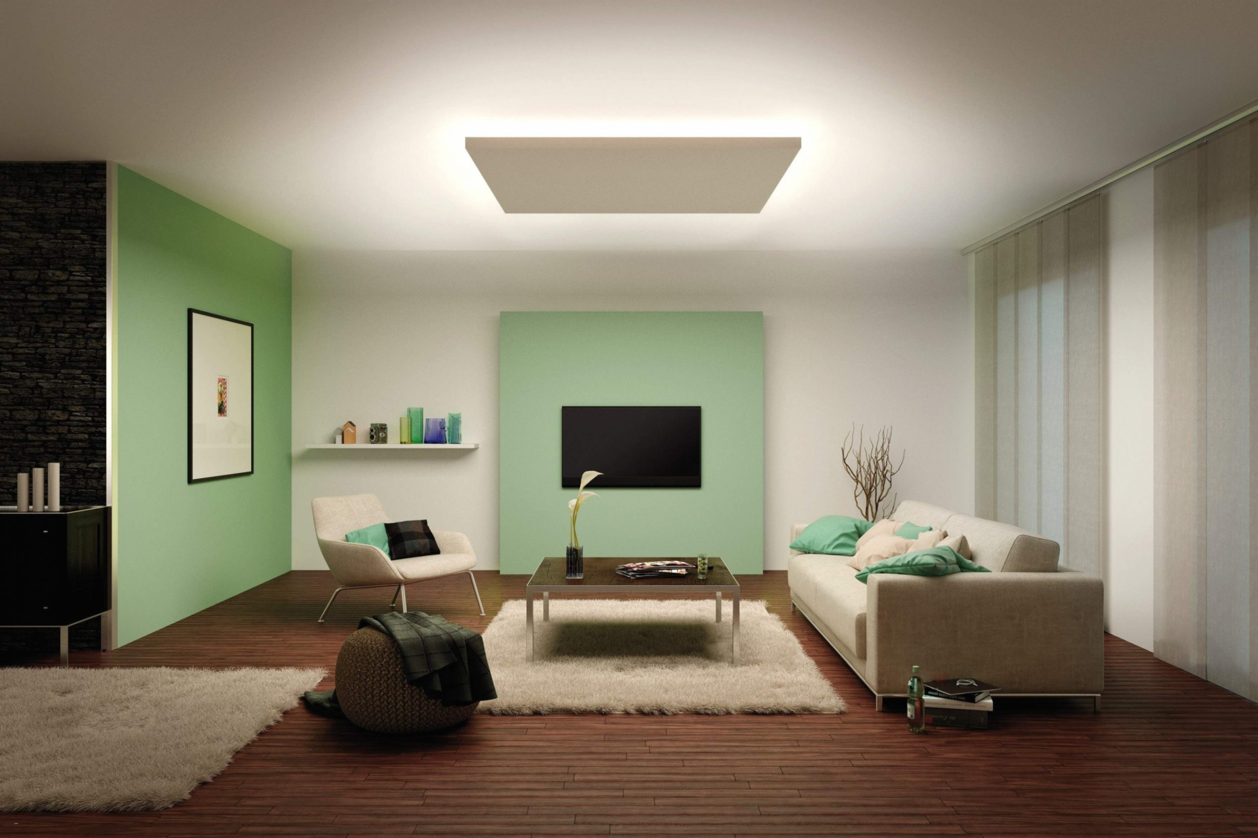 Full Size of 35 Chic Led Beleuchtung Tv Wand   Spots Im Wohnzimmer Wohnzimmer Indirekte Beleuchtung Wohnzimmer