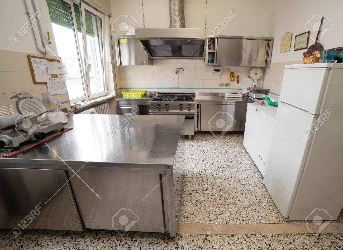 Full Size of Kitchen Stainless Steel Industry With Large Gas Stove And A Meat Küche Industrie Küche