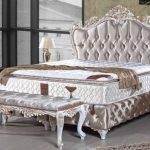 Barock Bett Casa Padrino Doppelbett Silber Wei Gold Prunkvolles Schlicht 180x200 Bettkasten Altes 2m X King Size Schwarz Weiß Mit Beleuchtung Bettwäsche Bett Barock Bett