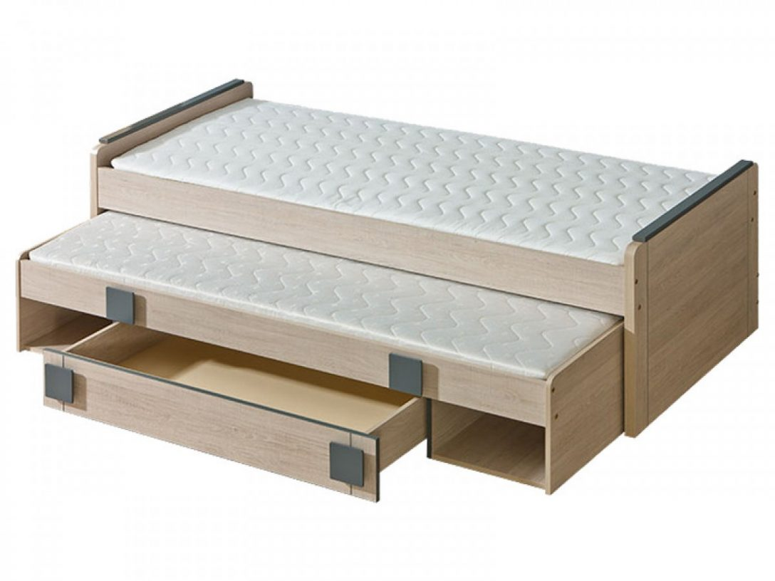 Large Size of Ausziehbares Bett Jugendbett Mit Ausziehbarem Eiche Santana Grau Lattenrost Betten Aus Holz Coole Barock 120 X 200 Selber Bauen 140x200 überlänge 200x180 Bett Ausziehbares Bett