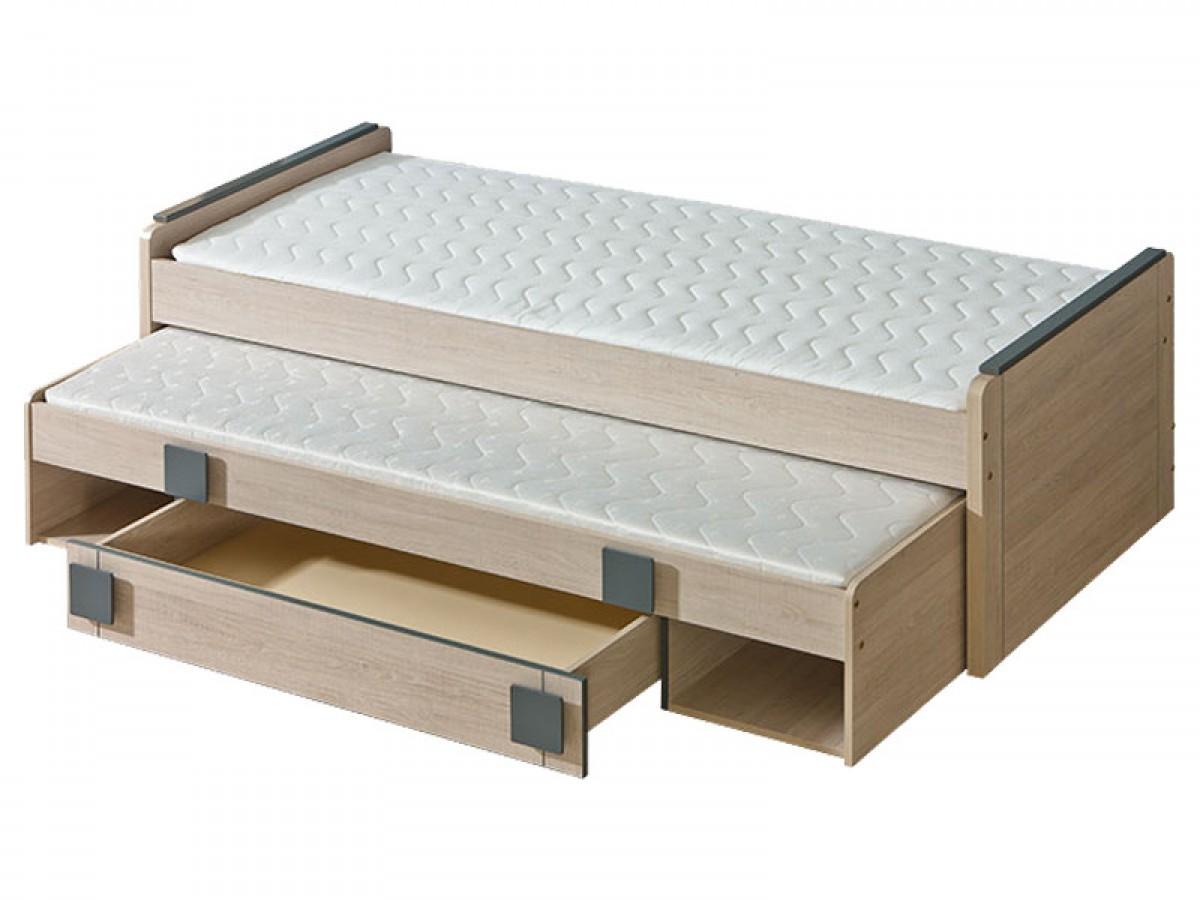 Full Size of Ausziehbares Bett Jugendbett Mit Ausziehbarem Eiche Santana Grau Lattenrost Betten Aus Holz Coole Barock 120 X 200 Selber Bauen 140x200 überlänge 200x180 Bett Ausziehbares Bett