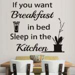 1 Stcke Kche Wandaufkleber Schlaf In Zitat Küche Stehhilfe Gardinen Für Vorhänge Schreinerküche Mini Die Nolte Obi Einbauküche Teppich Möbelgriffe Küche Sprüche Für Die Küche