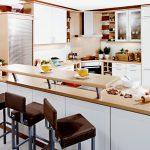 Einbaukche 2052 1 Kche L Form Mit Raumteiler Theke Pendelleuchten Küche Einlegeböden Liegestuhl Garten Einbauküche Weiss Hochglanz Bett Selber Küche U Form Küche